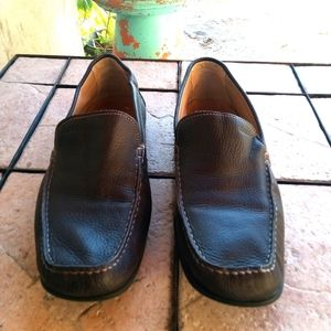 Ecco leather loafers men size 12 extra withney